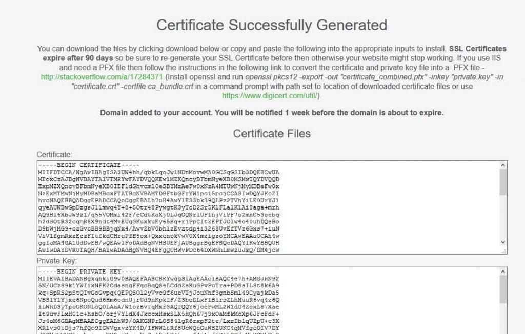 گواهینامه ssl رایگان صادر شده توسط سایت sslforfree