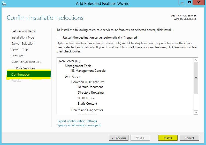آموزش نصب وب سرور iis در ویندوز سرور 2012