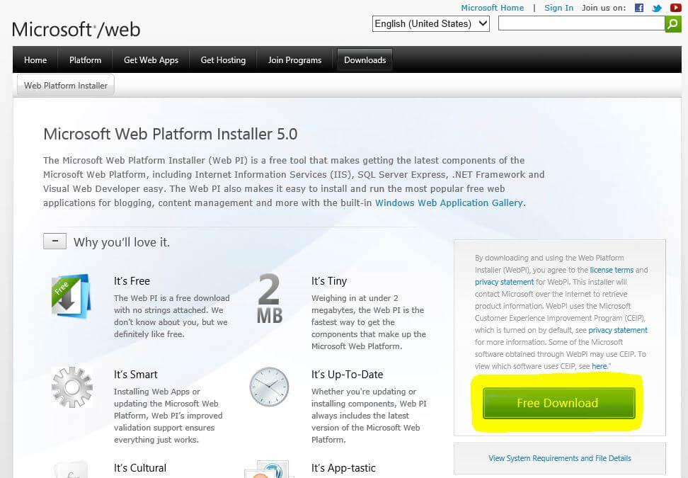 آموزش تصویری نصب php 7 در ویندوز سرور